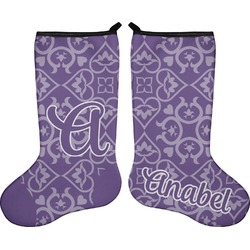 Lotus Flower Holiday Stocking - Double-Sided - Neoprene (Personalized)