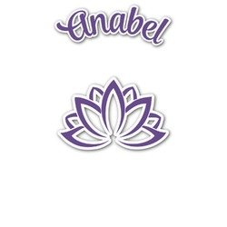 Lotus Flower Graphic Decal - Custom Sized (Personalized)