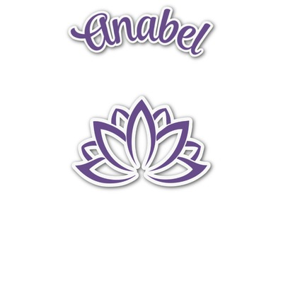 Lotus Flower Graphic Decal - Custom Sizes (Personalized)