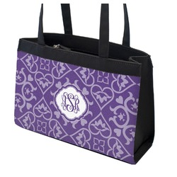 Lotus Flower Zippered Everyday Tote (Personalized)