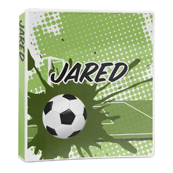 Soccer 3-Ring Binder - 1 inch (Personalized)