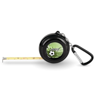 Soccer Pocket Tape Measure - 6 Ft w/ Carabiner Clip (Personalized)