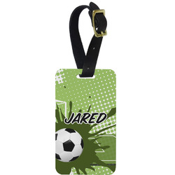 Soccer Aluminum Luggage Tag (Personalized)