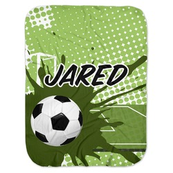 Soccer Baby Swaddling Blanket (Personalized)