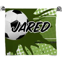 Soccer Full Print Bath Towel (Personalized)