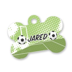 Soccer Bone Shaped Dog Tag (Personalized)