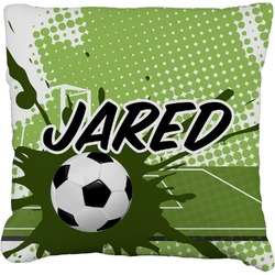 """Soccer Faux-Linen Throw Pillow 26"""" (Personalized)"""
