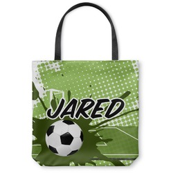Soccer Canvas Tote Bag (Personalized)