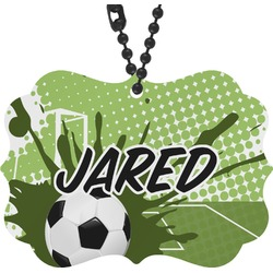 Soccer Rear View Mirror Charm (Personalized)