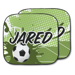 Soccer Car Sun Shade - Two Piece (Personalized)
