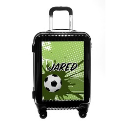 Soccer Carry On Hard Shell Suitcase (Personalized)