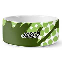 Soccer Ceramic Pet Bowl (Personalized)