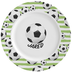 Soccer Ceramic Dinner Plates (Set of 4) (Personalized)