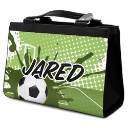 Soccer Classic Tote Purse w/ Leather Trim (Personalized)