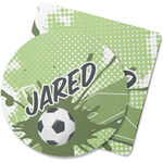 Soccer Rubber Backed Coaster (Personalized)