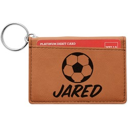 Soccer Leatherette Keychain ID Holder (Personalized)
