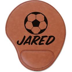 Soccer Leatherette Mouse Pad with Wrist Support (Personalized)