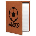 Soccer Leatherette Portfolio with Notepad (Personalized)