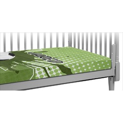 Soccer Crib Fitted Sheet (Personalized)