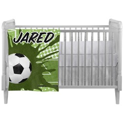 Soccer Crib Comforter / Quilt (Personalized)