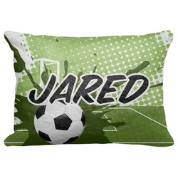 """Soccer Decorative Baby Pillowcase - 16""""x12"""" (Personalized)"""