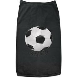 Soccer Black Pet Shirt (Personalized)
