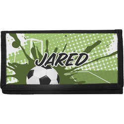 Soccer Canvas Checkbook Cover (Personalized)
