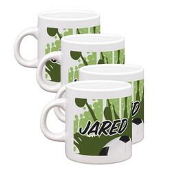 Soccer Espresso Mugs - Set of 4 (Personalized)