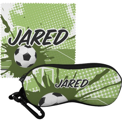 Soccer Eyeglass Case & Cloth (Personalized)