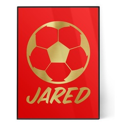 Soccer 5x7 Red Foil Print (Personalized)