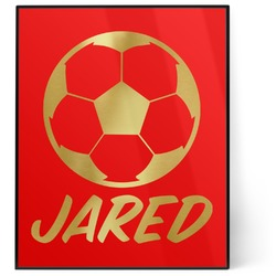 Soccer 8x10 Foil Wall Art - Red (Personalized)