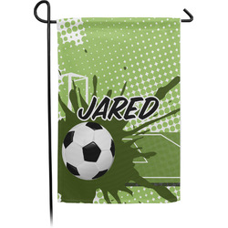 Soccer Garden Flags With Pole - Single or Double Sided (Personalized)