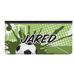 Soccer Genuine Leather Checkbook Cover (Personalized)