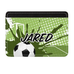 Soccer Genuine Leather Front Pocket Wallet (Personalized)