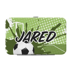Soccer Genuine Leather Small Framed Wallet (Personalized)
