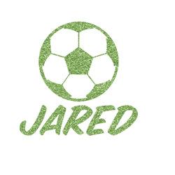 Soccer Glitter Iron On Transfer- Custom Sized (Personalized)