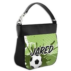 Soccer Hobo Purse w/ Genuine Leather Trim (Personalized)
