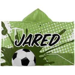 Soccer Kids Hooded Towel (Personalized)