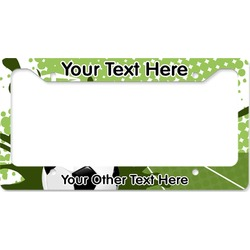 Soccer License Plate Frame (Personalized)