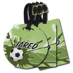 Soccer Plastic Luggage Tags (Personalized)