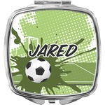 Soccer Compact Makeup Mirror (Personalized)
