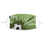 Soccer Adult Cloth Face Masks (Available in 2 Sizes) (Personalized)