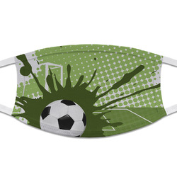 Soccer Cloth Face Mask (T-Shirt Fabric) (Personalized)