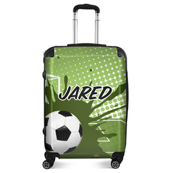 """Soccer Suitcase - 24""""Medium - Checked (Personalized)"""