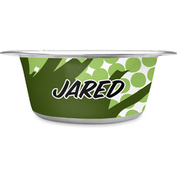 Soccer Stainless Steel Dog Bowl (Personalized)