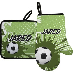 Soccer Oven Mitt & Pot Holder (Personalized)