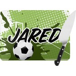 Soccer Rectangular Glass Cutting Board (Personalized)