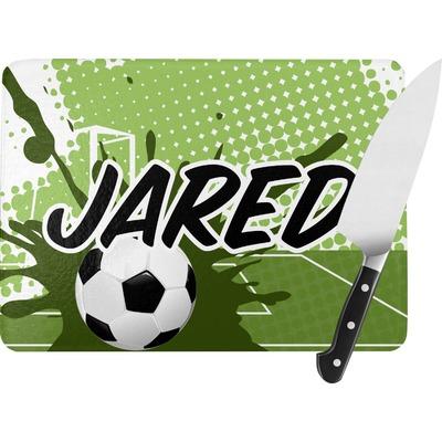 Soccer Rectangular Glass Cutting Board (Personalized)