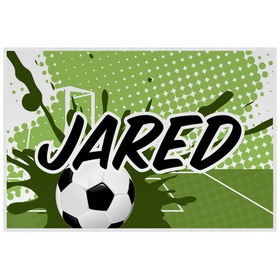 Soccer Laminated Placemat w/ Name or Text
