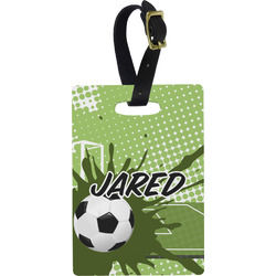 Soccer Rectangular Luggage Tag (Personalized)